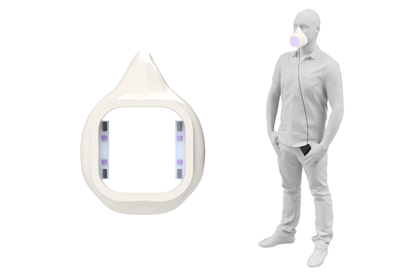 uv-c breathing mask with active virus protection
